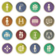 Community simply icons Stock Illustration