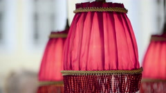 The hanging lamp decor in a store Stock Footage