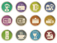 Kitchen Utensils Icon Set - stock illustration