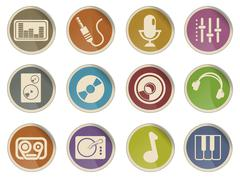 Stock Illustration of Audio & music icons