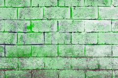 Background texture of a old white brick wall Stock Photos