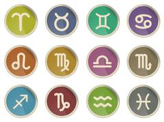 Zodiac signs icon set Stock Illustration