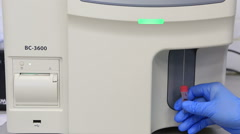 Stock Video Footage of Automatic hematology analyzer