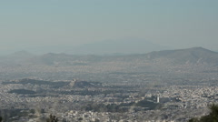 Top View of the City Athens Stock Footage
