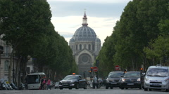 Traffic on Boulevard Malesherbes, near Eglise Saint Augustin, Paris - stock footage