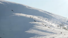 4K Time Lapse of Group of People Climbing to the Mountain in the Winter - stock footage