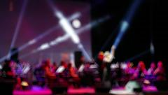 Symphony Orchestra Performance In The Concert Hall Defocus Background Stock Footage