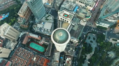 Amazing Aerial Views of Shanghai Stock Footage