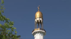 Minaret of the Islamic Center in Male Maldives - stock footage