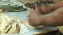 Chapatti preparation Stock Footage