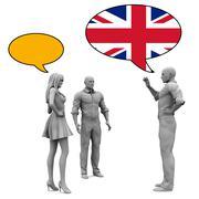 Learn English Stock Illustration