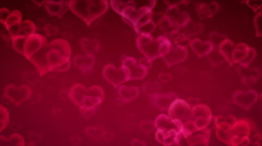 Moving Hearts Background - stock footage