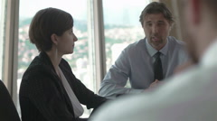 Business people group on meeting at modern bright office Stock Footage