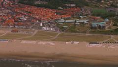 Aerial Katwijk aan zee, holland. Stock Footage
