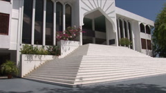 Tilt shot up the Islamic Center in Male Maldives Stock Footage
