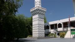 Minaret of the Islamic Center in Male Maldives - stock footage