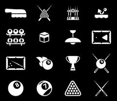 Billiards simply icons Stock Illustration