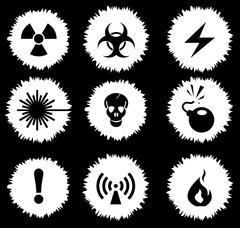 Hazard Sign Icons Stock Illustration