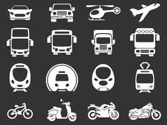 Transport mode icons Stock Illustration