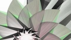 Abstract fractal shapes moving background Stock Footage