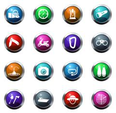 Active recreation icons Stock Illustration