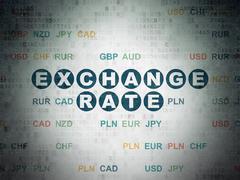 Banking concept: Exchange Rate on Digital Paper background - stock illustration