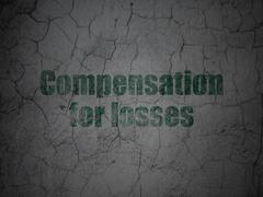 Banking concept: Compensation For losses on grunge wall background - stock illustration