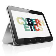 Science concept: Tablet Computer with Cybernetics on  display Stock Illustration