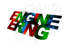 Stock Illustration of Science concept: Engineering on Digital background