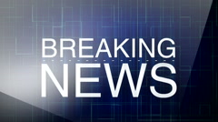 Breaking news background 4 - stock footage