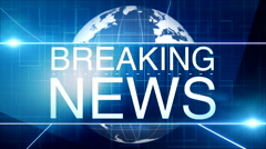 Breaking news background 16 - stock footage
