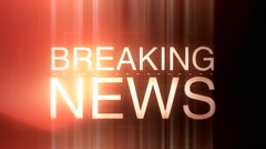 Breaking news background 9 - stock footage