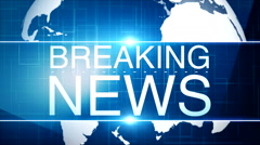 Breaking news background 18 - stock footage