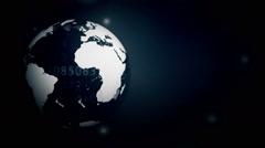 Maps art digital globe 14 Stock Footage