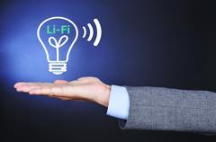 Li-Fi, light fidelity - stock photo
