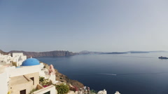 White architecture on Santorini island, Greece.  Beautiful landscape  Stock Footage