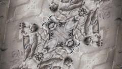 Kaleidoscope : Stone flower abstract background - Old stone, decoration frieze  Stock Footage