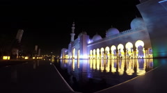 Stock Video Footage of Grand Mosque Sheikh Al Zayed, Abu Dhabi