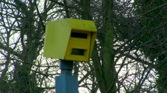 Gatso Speed camera flashes - stock footage