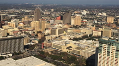 4K UltraHD Aerial view of San Antonio city center Stock Footage