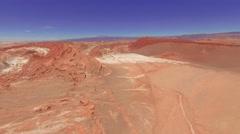 Atacama, Chile - August 22, 2015: Aerial Shot Atacama Valle De La Luna, Chile Stock Footage