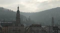 Stock Video Footage of Heidelberg Skyline