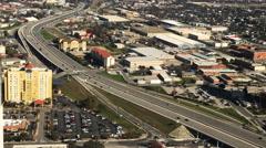 4K UltraHD Aerial view of San Antonio traffic Stock Footage