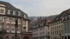 Heidelberg Castle & Altstadt Stock Footage