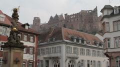 Stock Video Footage of Heidelberg Castle & Altstadt