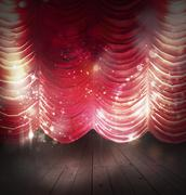 Red curtains theater Stock Photos