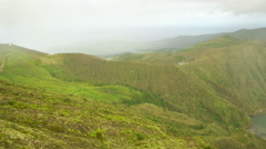 High Up View Over the Azores Island - stock footage
