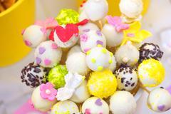 Cupcake cake pops - stock photo