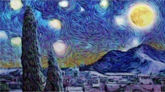 Van Gogh Effect Stock After Effects