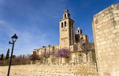 Romanesque monastery of Sant Cugat Stock Photos